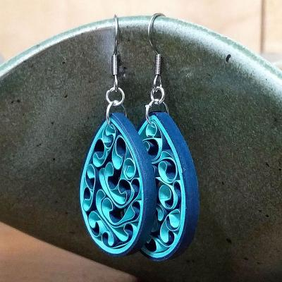 Ocean Waves Honeycomb Earrings
