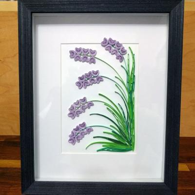 Lavender Flowers Quilled Art